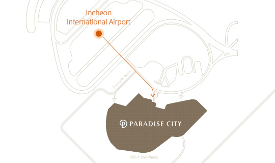 Access from Incheon Airport to Paradise City